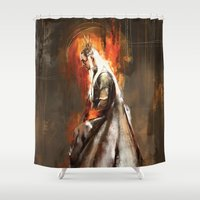thranduil Shower Curtains featuring Thranduil Oropherion by Wisesnail
