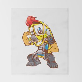 School bus cartoon Throw Blanket