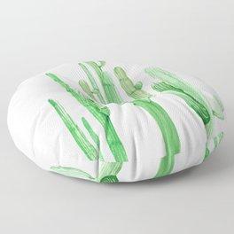 Three Amigos Cacti Green Floor Pillow