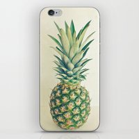 pineapple iPhone & iPod Skins featuring Pineapple by Cassia Beck