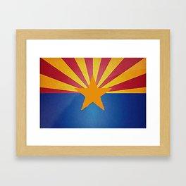 Fancy Flag: Arizona Framed Art Print