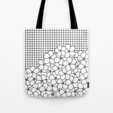 Forget Me Knot Grid Tote Bag