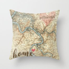 Love Pittsburgh PA Throw Pillow