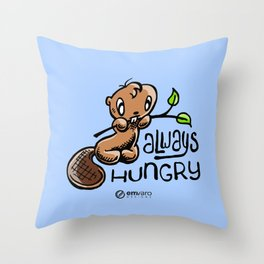 Chuck: Always hungry Throw Pillow
