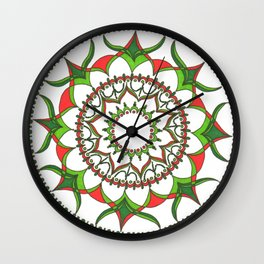 Geometric Christmas Wall Clock