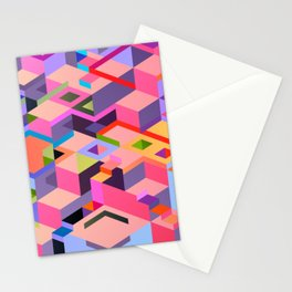 Isometric Chaos Stationery Cards