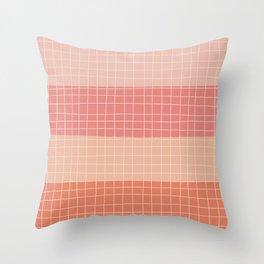 Peachy Stripes Throw Pillow