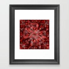 Fractal Imagination I - Ruby Framed Art Print
