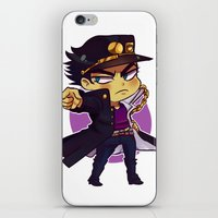 jjba iPhone & iPod Skins featuring ORA by Bettwitch