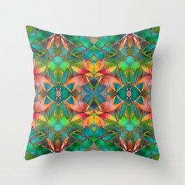 Floral Fractal Art G23 Throw Pillow