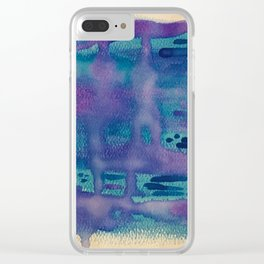 Water Droplets Clear iPhone Case