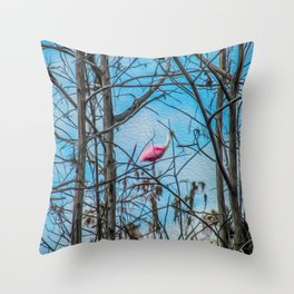 The Rose in the Tree Throw Pillow