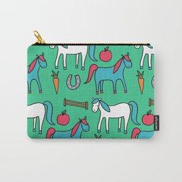 Horses- Aqua Carry-All Pouch