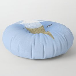 Ice Cream and Whale Floor Pillow