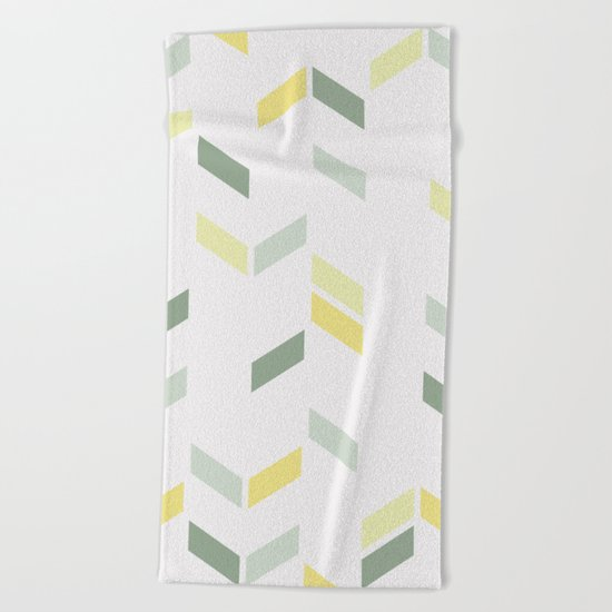 Geometric Confetti (Tropical Party) Beach Towel