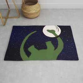 Dave the Dinosaur in Space Rug