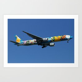 All Nippon Airways - ANA Boeing 777-381 Art Print