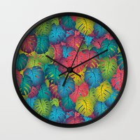 not all those who wander are lost Wall Clocks featuring Not all those who wander are lost by Attitude Creative