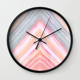 Agate Chevron II Wall Clock
