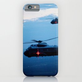 Support Helicopters Fly at Dusk iPhone Case