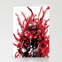 carnage Stationery Cards featuring Carnage watercolor by Noel Castillo