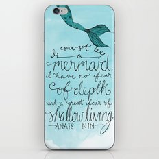 Mermaid Quote iPhone & iPod Skin