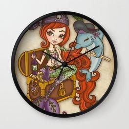 Dolphin's Treasure Wall Clock
