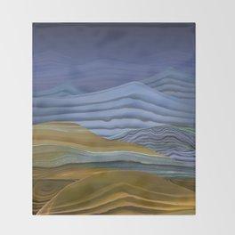 Abstract Terrain Throw Blanket