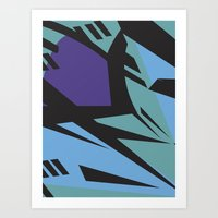 Dazzle purple/blue large Art Print