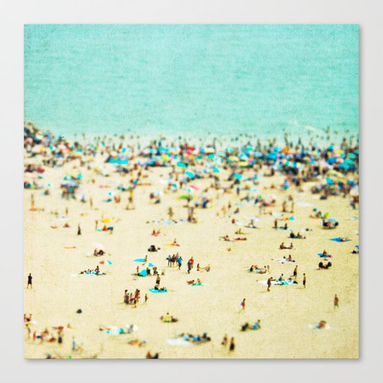 Coney Island Beach Canvas Print