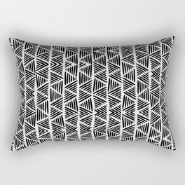 Black and White Abstract I Rectangular Pillow
