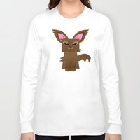 furry Long Sleeve T-shirts featuring Furry Kitty by Yay Paul