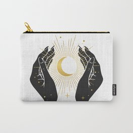 Gold La Lune In Hands Carry-All Pouch