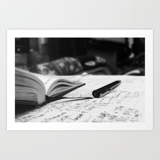 Studying Hard Art Print