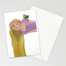 Rapunzel and Pascal Stationery Cards