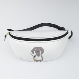 Weim USA Grey Ghost Weimaraner Dog Hand-painted Pet Drawing Fanny Pack