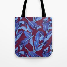 Tropical '17 - Blue Bird Of Paradise [Banana Leaves] Tote Bag
