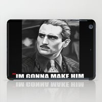 the godfather iPad Cases featuring Godfather by Org Mag