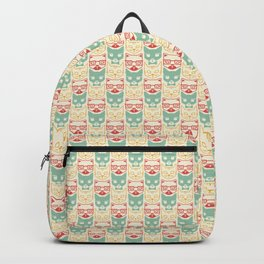 Pattern of cats hipsters Backpack