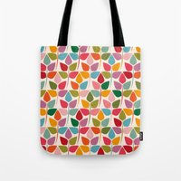 plants Tote Bags featuring Plants by Helene Michau
