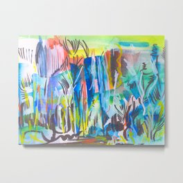 Abstract landscape expressionist Metal Print