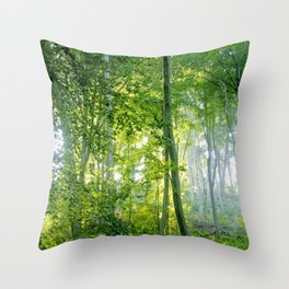 MM - Sunny forest Throw Pillow