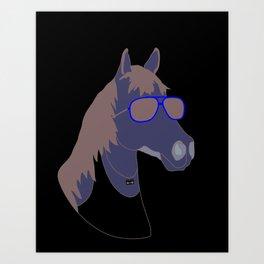Horse Dude Art Print