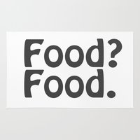 food Area & Throw Rugs featuring Food? Food. by Poppo Inc.