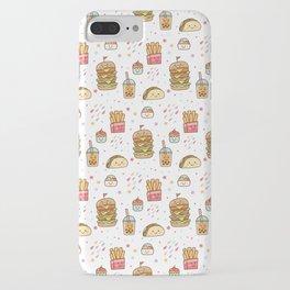 Fun Junk Food Pattern iPhone Case