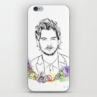 louis tomlinson iPhone & iPod Skins featuring Louis Tomlinson by Mariam Tronchoni