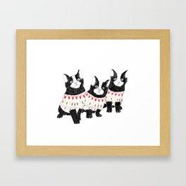Kittens are ready for winter. Framed Art Print