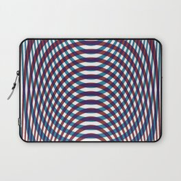 Blue and red stripes tartan Laptop Sleeve