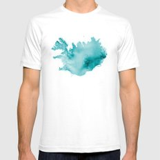 Iceland LARGE Mens Fitted Tee White