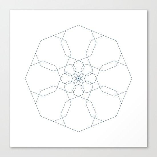 #405 Octangularity – Geometry Daily Canvas Print